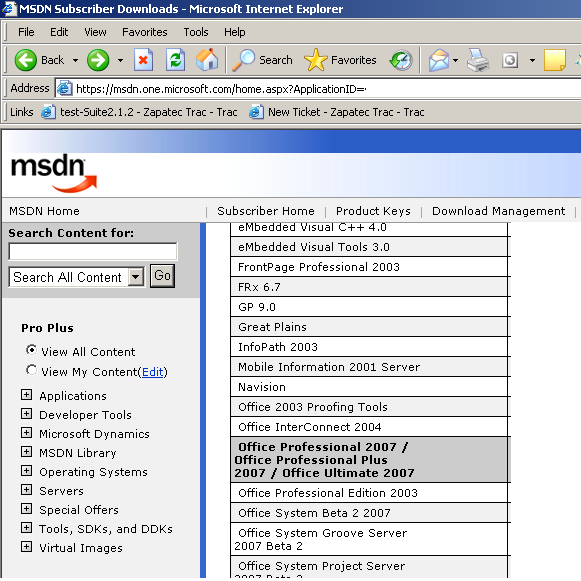 MSBLOG » Blog Archive » Office 2007 keys available on MSDN